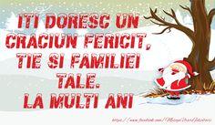 Iti doresc un Craciun Fericit, tie si familiei tale. Romania, Cami, Diy And Crafts, Tie, Quotes, Christmas, Navidad, Qoutes, Dating