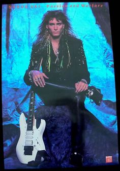 Steve Vai Passion and Warfare poster from 1990