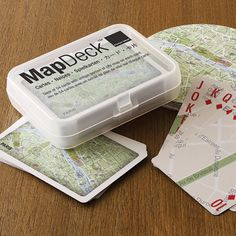 Map Deck Playing Cards Paris by Design Ideas