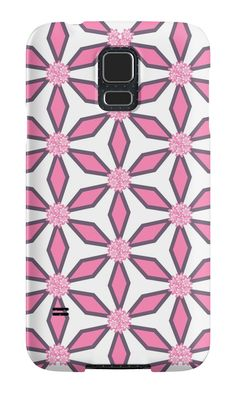 Pink and grey floral pattern by cocodes. A colorful #samsung #galaxy case, perfect for girls and women all ages. Design available on multiple objects. #redbubble http://www.redbubble.com/people/cocodes/works/21525605-pink-and-grey-floral-pattern?p=samsung-galaxy-case