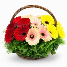 Basket Flower Arrangements, Artificial Floral Arrangements, Silk Flower Arrangements, Beautiful Roses, Silk Flowers, Dried Flowers, Beautiful Flowers, Hand Bouquet, Garland Wedding