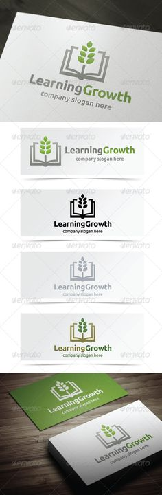 Learning Growth - Logo Design Template Vector #logotype Download it here: http://graphicriver.net/item/learning-growth/5020578?s_rank=903?ref=nexion