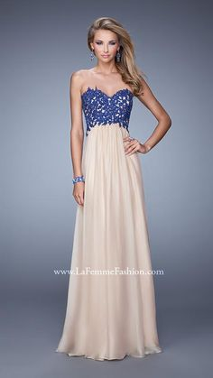 Shop La Femme evening gowns and prom dresses at Simply Dresses. Designer prom gowns, celebrity dresses, graduation and homecoming party dresses. Cocktail Dresses Online, Evening Dresses Online, Chiffon Evening Dresses, Cheap Evening Dresses, Womens Cocktail Dresses, Chiffon Gown, Strapless Dress Formal, Dress Online, Dress Long
