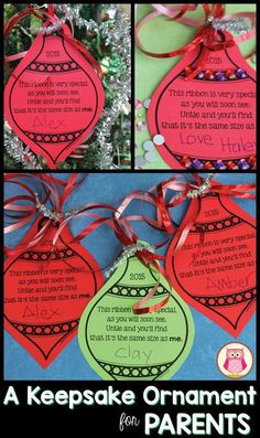 This parent gift is simple, inexpensive, and can be adapted for kids of all ages and abilities. Parents will love this keepsake ornament. #ParentingGifts
