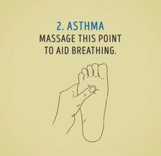 Asthma, characterized by difficulty in breathing, is a chronic lung condition. Asthma patients have hyper responsive airways that narrow down when irritated. Asthma Relief, Asthma Symptoms, Acupressure Treatment, Acupressure Points, Massage Tips, Massage Therapy, Natural Asthma Remedies, Reflexology Massage, Alternative Health
