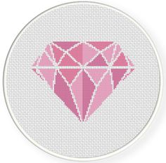 FREE for Aug 25th 2014 Only - Diamond Cross Stitch Pattern