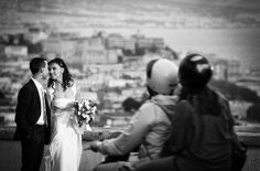 Martriomonio a Posillipo , Napoli , Fotografia scattata da Posillipo in stile reportage.Destination Wedding Italy