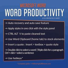 Word Office, Word App, Simply Learning, Color Quotes, Entrepreneur Inspiration, Microsoft Word, Online Work, Business Ideas, Need To Know