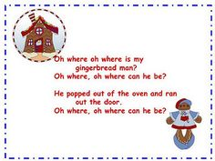 Gingerbread Men: Find the hidden gingerbread chant Christmas Songs For Toddlers, Holiday Crafts For Kids, Preschool Christmas, Gingerbread Man Song, Christmas Gingerbread, Songs To Sing, Kids Songs, Song Play, Preschool Poems