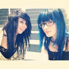 blue hair #glasses #ledamonsterbunny