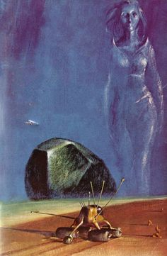 JOHN SCHOENHERR - art for The Martian Sphinx by Keith Woodcott - 1965 Ace Books