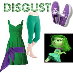 disgust: inside out by fashiondsign on Polyvore featuring Keds