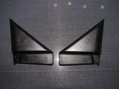 94-01 Acura Integra OEM Black Exterior Inner Mirror Trim Set