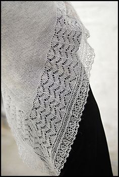 Bridgewater Shawl by brooklyntweed - this is my current project...slowly moving along with it.  Yarn - Wollmeise Lace in Krododil
