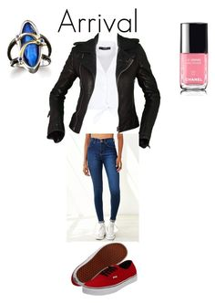 """""""Arrival"""" by lucyheartfilia964 ❤ liked on Polyvore featuring Hallhuber, Balenciaga, Dr. Denim and Vans"""