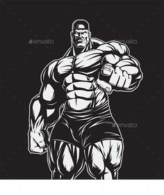 Man of Iron by Bodybuilder posing showing big muscles, illustration vektor. Vector graphics Install any size without loss of quality. Bodybuilding Motivation, Bodybuilding Logo, Bodybuilding Workouts, Aesthetics Bodybuilding, Bodybuilding Competition, Fitness Gym, Fitness Motivation, Fitness Models, Beast Mode