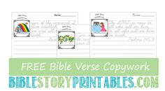 Free Bible Crafts and Bible Activities ... Wow! This site has a ton of stuff!