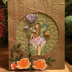 Fairy Celebration #Stampin'Up! #141554 Scrapbook Cards, Scrapbooking, Punch Art Cards, Girl Birthday Cards, Stampin Up Catalog, Flower Fairies, Flower Cards, Cool Cards, Kids Cards