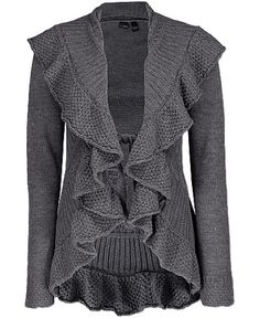 Daytrip Ruffle Front Cardigan Sweater