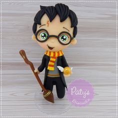 Miniatura Harry Potter 15cm (PRONTA ENTREGA) no Elo7   Paty's Biscuit (CC0D1C)