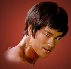 Bruce Lee Portrait. Awesome Portrait. Love The Likeness.
