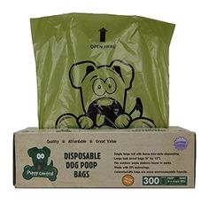 Puppy Central Dog Waste Bags for Pantries Environmentally Friendly 300 Large LeakProof Bags in TissueBox Dispensing Style Box Single Roll Lavender Scented * For more information, visit image link.