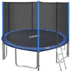 Zupapa 15 14 12 Ft TUV Approved Trampoline with Enclosure Net and Pole and Safety Pad and Ladder and Jumping Mat and Rain Cover 108 Springs Size 15 Feet Trampoline Ladder, Best Trampoline, Backyard Trampoline, Outdoor Toys, Outdoor Tables, Trampoline Reviews, Trampoline Accessories, Trampolines For Sale, Pallet Bathroom
