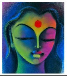Soft Pastel Art, Pastel Artwork, Oil Pastel Paintings, Oil Pastel Drawings, Indian Art Paintings, Modern Art Paintings, Colorful Drawings, Abstract Paintings, Abstract Face Art