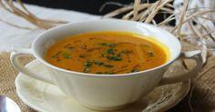 Una zuppa calda e confortevole, leggermente piccante e con il sapore e profumo dello zenzero...  Perfetta per scaldare una serata autunn...
