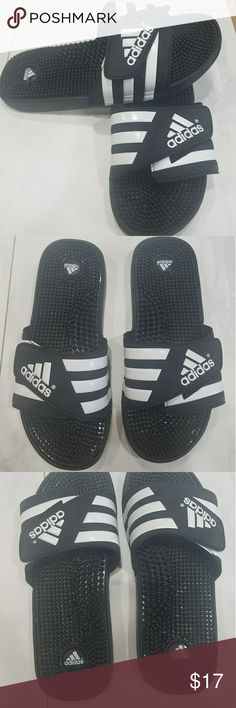 4f29a278dfb783 Men s Adidas slides size 12 Bought these for my son in August he wore them  no · Adidas SlidesBlack AdidasAdidas MenFlip Flop SandalsFlip ...