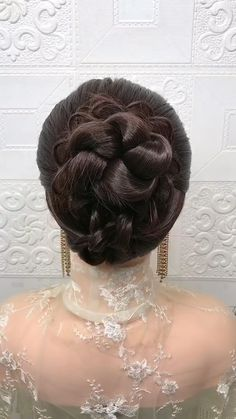 Bun Hairstyles For Long Hair, Bride Hairstyles, Headband Hairstyles, Hairstyle Braid, Braided Bun Hairstyles, School Hairstyles, Beautiful Hairstyles, Party Hairstyles, Short Hair