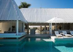 Valuvalu House by Crosson, Clarke, Carnachan Architects, Fiji Fly To Fiji, Visit Fiji, Fiji Beach, Cedar Cladding, Natural Stone Flooring, Hip Roof, Open Plan Living, Luxury Homes, Terrace
