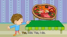 Do you like pizza? - I like pizza. - English song for Kids - Let's sing . Poems In English, English Verbs, English Class, English Lessons, English Vocabulary, Teaching English, Learn English, Listen And Speak, Do You Like Pizza