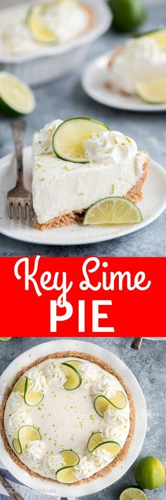 No Bake Key Lime Pie is an easy summer dessert that combines the citrus flavor of lime balanced by just enough sweetness to create a pie unlike anything you have ever tasted! Moose Dessert, Pastry Recipes, Cooking Recipes, Flip Recipe, Key Lime Pie Cheesecake, Homemade Graham Cracker Crust, Keylime Pie Recipe, Lime Recipes, No Bake Pies