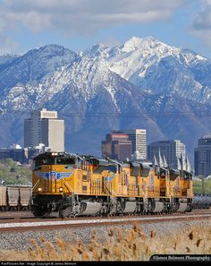Union Pacific, Salt Lake City, Utah When I was little, my family took the train to SLC.it was so exciting, and we got to hear the boy's choir at the Temple! Union Pacific Train, Union Pacific Railroad, Lake Photography, Railroad Photography, Railroad Pictures, Rail Transport, Louisiana, Bonde, Train Tracks
