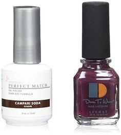 Le Chat Perfect Match LedUv Gel Polish Kits  Complete AZ Collection Campari Soda * Continue to the product at the image link. (This is an affiliate link) #NailPolish