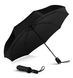 Repel Umbrella Windproof Double Vented Travel Umbrella with Teflon Coating (Black) Best Travel Umbrella, Best Umbrella, Mini Umbrella, Golf Umbrella, College Dorm Essentials, College Hacks, Room Essentials, All Colleges, Black
