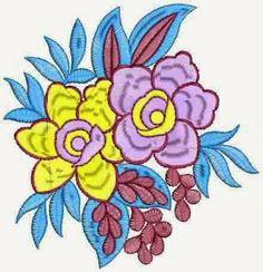 Blomme figuur ontwerper Patch