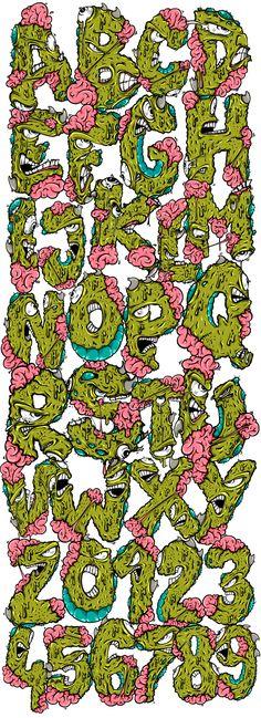 Monster alphabet on Behance