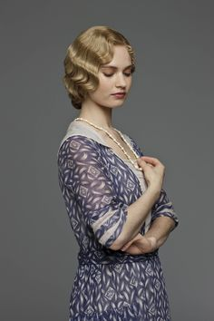 Lily James as Lady Rose McClare in Downton Abbey.
