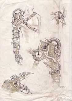 steam punk design | Steampunk arm design by zsofiadome