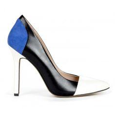Blakeley colorblock pump - Black Crema Blue