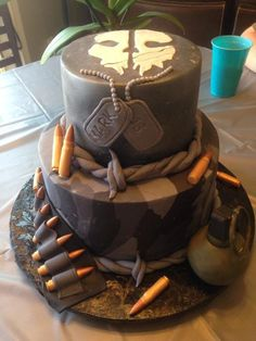 Call of Duty: Ghosts - Cake by danicakes