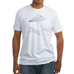 Paper Airplane T-Shirt (pilot humor, pilots, clothing, future pilot, flying, aircraft, dreamer)