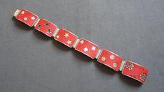 vintage silver matte enamel cloisonné bracelet rare by by swissgay