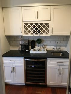 This is our butlers pantry. White Kitchen Island, Butler Pantry, Granite, This Is Us, Kitchen Cabinets, Decorations, Black, Home Decor, Pantry Room