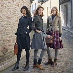 Что носить осенью? Шерстяные брюки, шелковые блузки, пальто из твида и другие атрибуты французского шика | Glam Media Russia