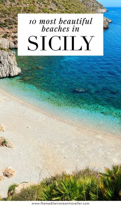10 Best Beaches in Sicily. With over 100km of coastline and a variety of landscapes, there's a beach here for everyone in Sicily - from dazzling white cliff beaches to empty dune sands and pretty coves. Here are 10 stunning beaches worth checking out. #sicily #italy #europe #beach #islands #mediterranean #tmtb Italy Travel Tips, Top Travel Destinations, Rome Travel, Amazing Destinations, Travel Guide, Travel Images, Travel Pics, Travel Ideas, Positano