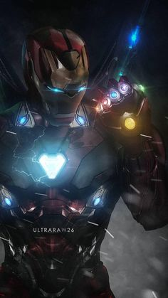 Iron Man with Infinity Gauntlet Marvel Avengers, Iron Man Avengers, Marvel Comics, Bd Comics, Marvel Heroes, Deadpool Comics, Deadpool Wolverine, Captain Marvel, Poster Superman