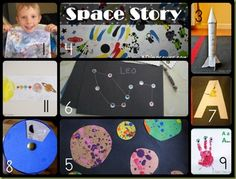 Jump In To Learning - Week 1 Space Theme Lesson Plans and Craft, Activity, Book, Snack and Sensory Play Round up.